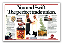 Advertising: Swift, Wholesale Meat Trade Campaign