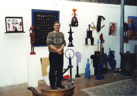 Photograph: Marcus in His Studio Circa 1995
